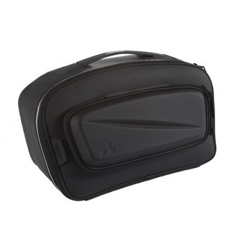 Semi-rigid rear top cargo travel bag