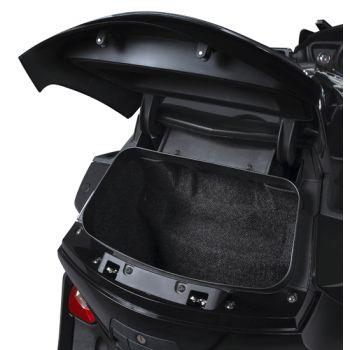Top case moulded inside liner