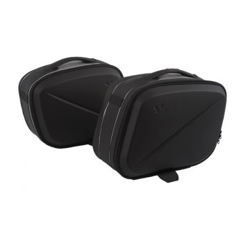 Semi-rigid rear side cargi travel bags