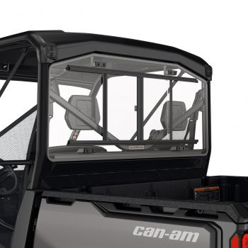 Rear Glass Window with Sliding Panel